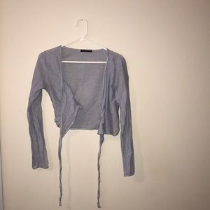 brandy melville  wrap around shirt